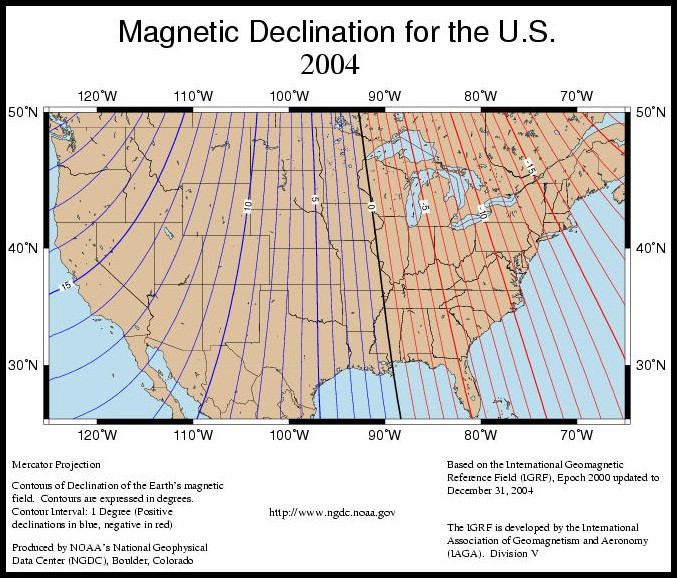 2004 Declination Map