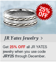Get 25% OFF JR YATES jewelry