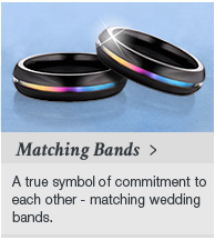 Matching Wedding Bands at Titanium Jewelry