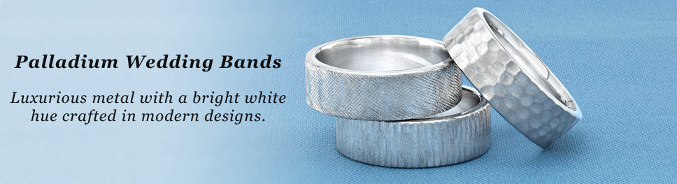 Palladium Wedding Bands at Titanium-Jewelry.com