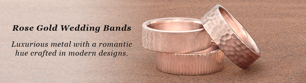 Rose Gold Wedding Bands at Titanium-Jewelry.com