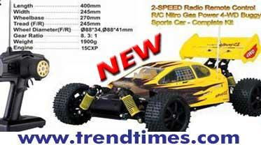Nitro RC Car 2 Speed Buggy 1/10 Scale Free Shipping