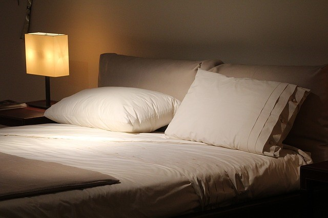 mattress and pillows for good night's sleep photo