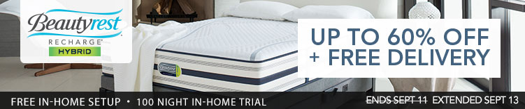 Simmons Beautyrest Recharge Hybrid Mattress sale