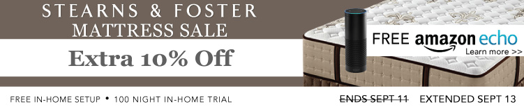 Stearns & Foster Mattress sale