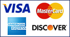 Secure Shopping.  We accept Visa, Mastercard, American Express and Discover