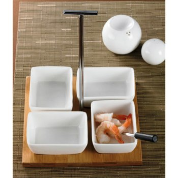 Serving Set with Bamboo Tray