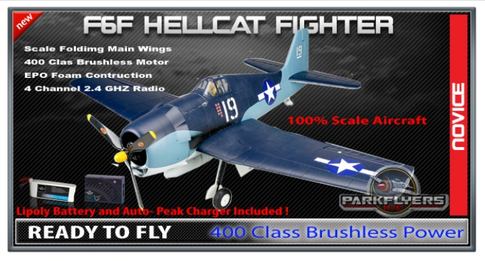 RC Hellcat Fighter Plane