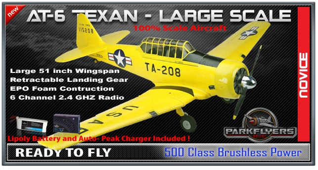 Parkflyers AT-6 Texan RC Plane