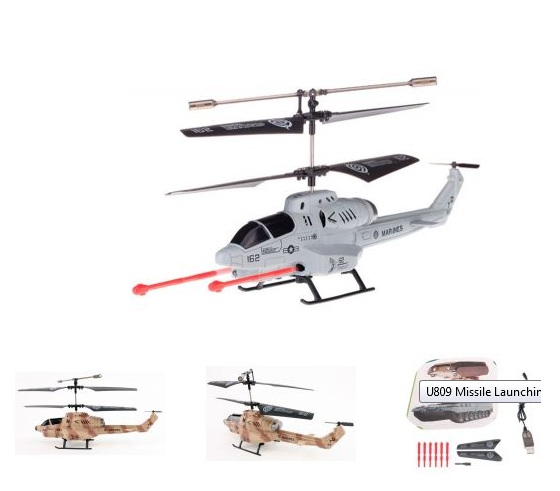 Missile Firing RC Helicopter