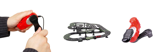 Wind Up Racing Car Track