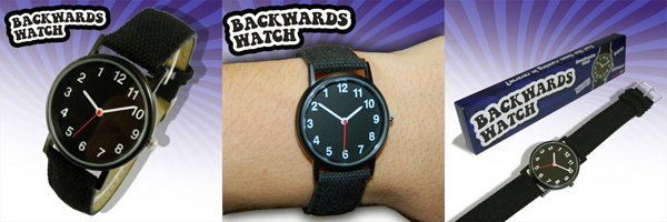 backward moving watch