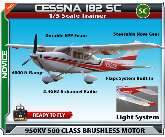 cessna 182 remote control airplane