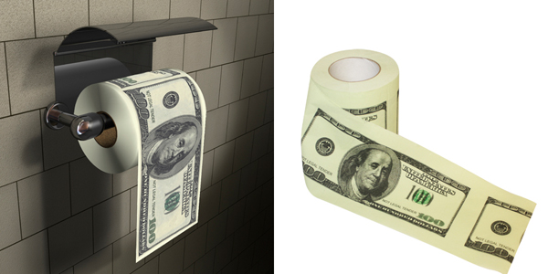 dollar bill funny toilet paper money