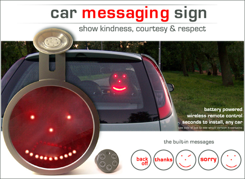 LED Emoticon Car Sign