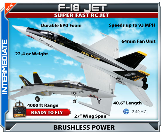 ready to fly radio controlled f18 jet