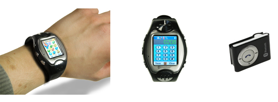 gsm multi media watch phone with blue tooth headset