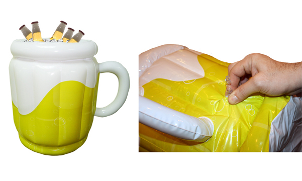 inflatable beer cooler