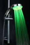 led sonic shower head green picture