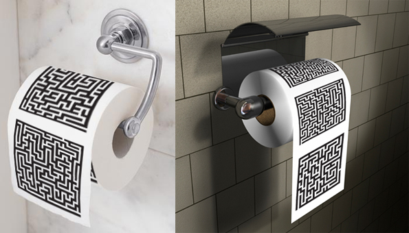 Maze Toilet Paper Roll