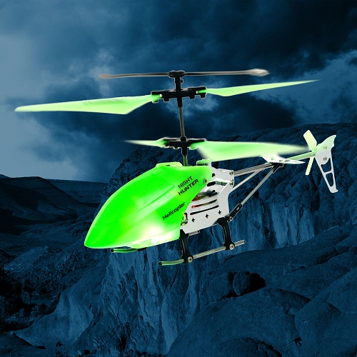RC glow in the dark helicopter