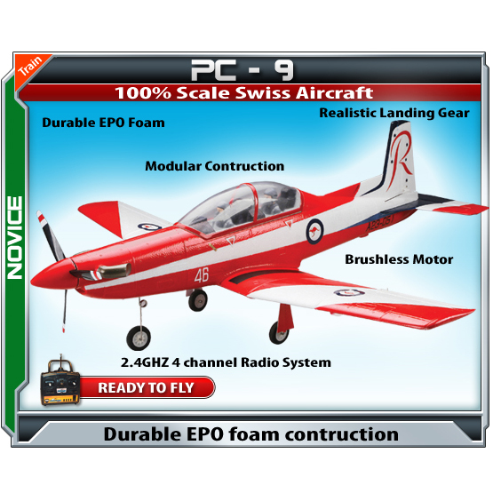 Parkflyers PC-9 RC Plane