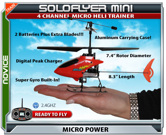 Soloflyer Radio Controlled Electric Helicopter