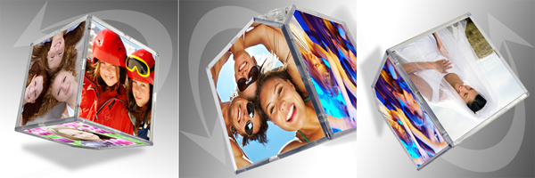 Rotating digital picture Frame
