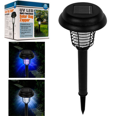 solar powered garden light and bug zapper