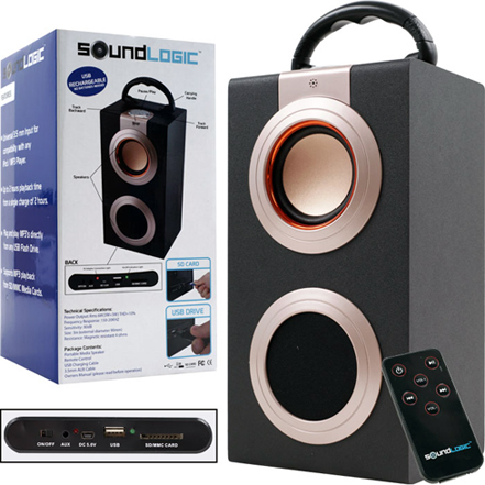 speaker that plays mp3 music from a usb flash drive, sd card or MMC