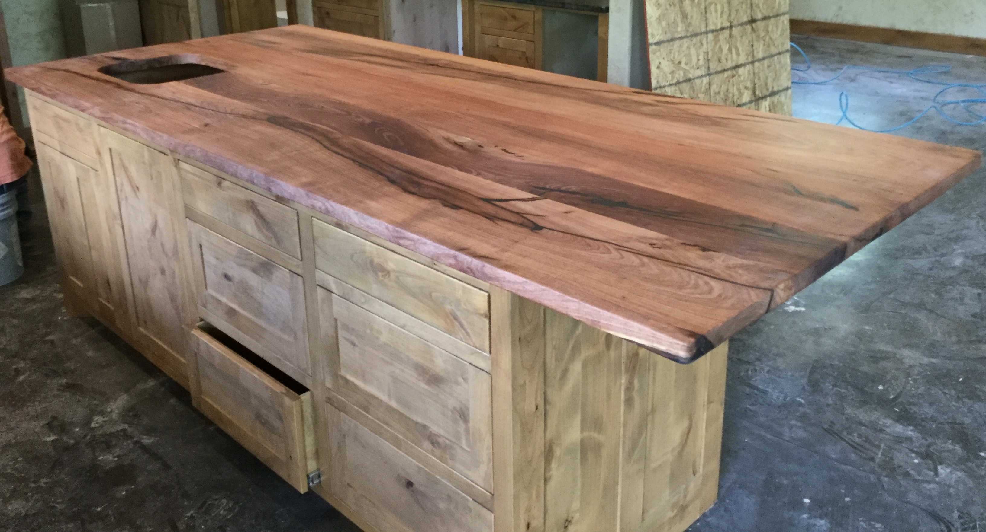 Custom wood bar top, counter tops, island tops, butcher block island ...