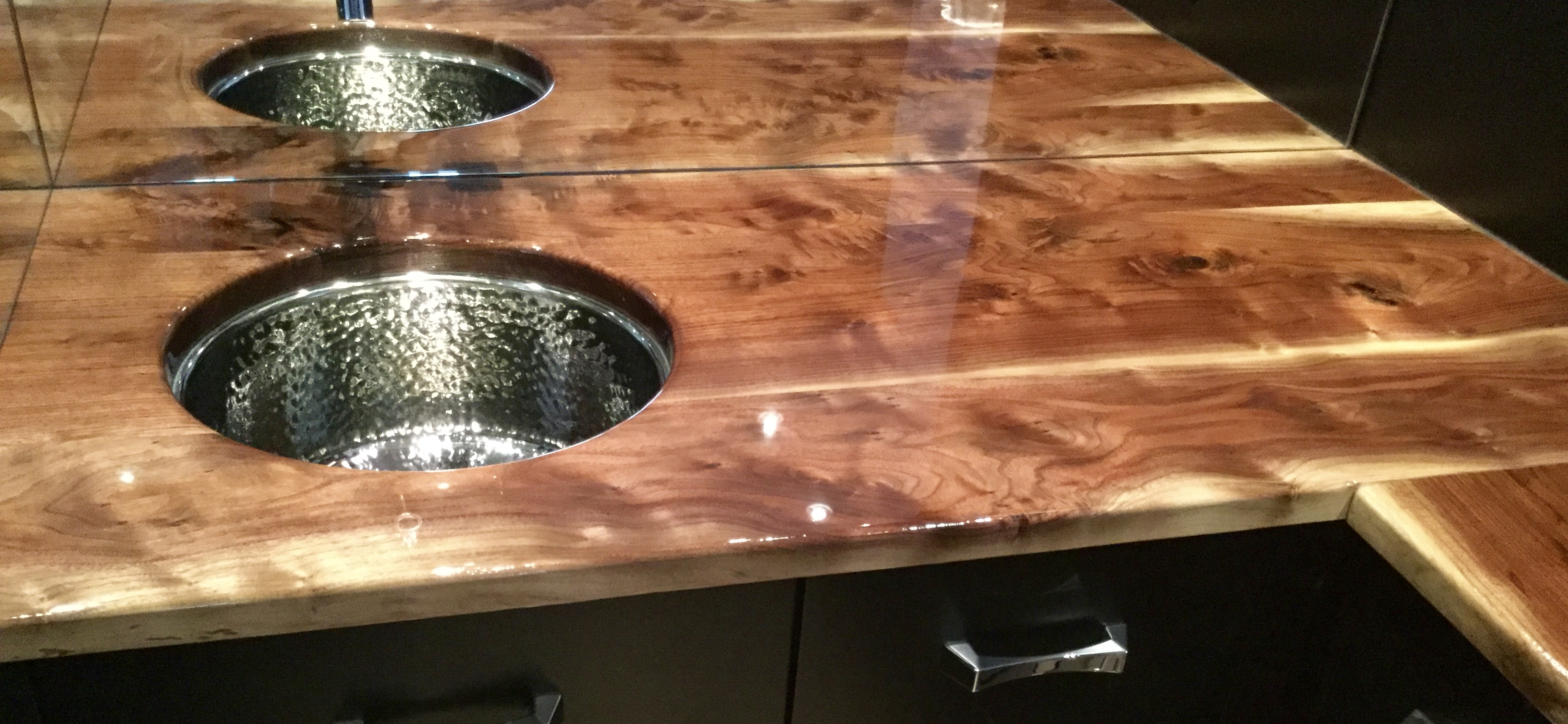 Walnut Countertops with sink