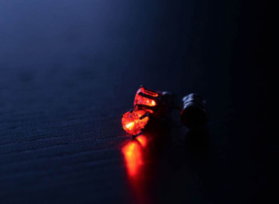 Red LED Earrings