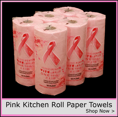 Pink kitchen towels