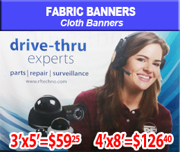 fabric banner sample