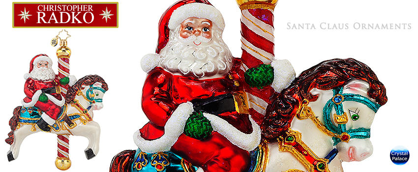 Christopher Radko Santa Claus Christmas Ornaments
