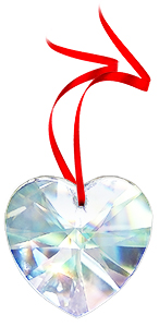 FREE GIFT 30% Lead CRYSTAL HEART PRISM 40mm