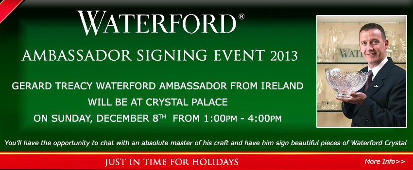 WATERFORD CRYSTAL SIGNING EVENT 2013 AT CRYSTAL PALACE