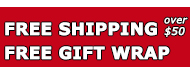 FREE SHIPPING + FREE GIFT WRAP + NO SALES TAX