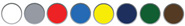 White, Red Letter, Safety Yellow, Campus Green, Equipment Blue, Postal Blue and Architectural Bronze
