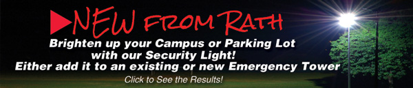Brighten up your Campus or Parking Lot with our Security Light! Either add it to an existing or a new Emergency Tower