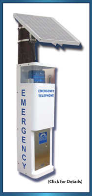 36 inch Blue Light Emergency Call Station (Solar)