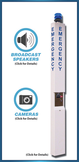 Wired Emergency Tower Phone(with Camera & Broadcast Speaker Options