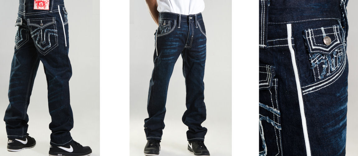Men 117 Carson  Selvage Denim Jeans