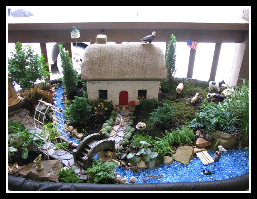 Finely Detailed Miniature Farm Garden Scene