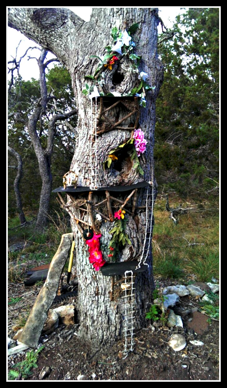 Full View Of Multi Level Fairy Tree Dwelling
