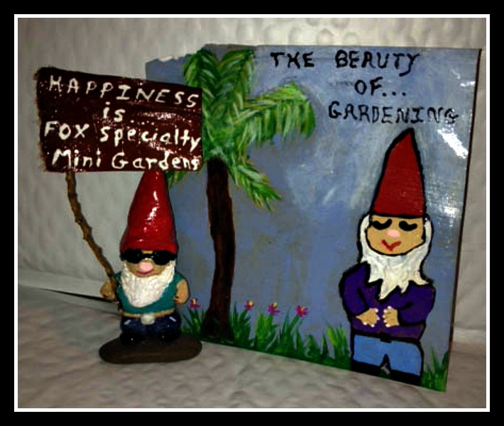 Gift Of Handcrafted Clay Fairy Gnome With Handpainted Card