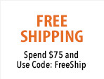 Free standard shipping on your order of $75 or more