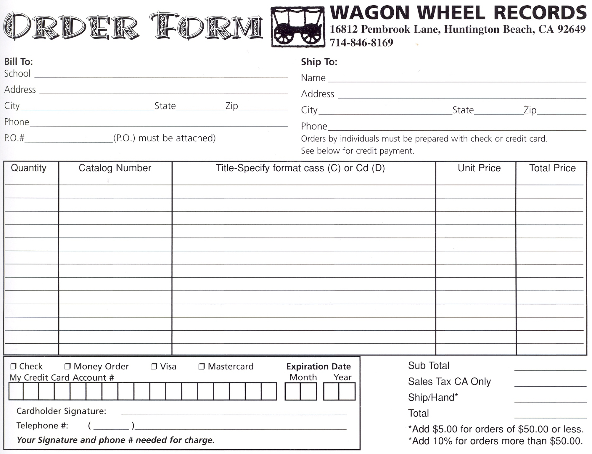 Order Form Printing Print This Order Form