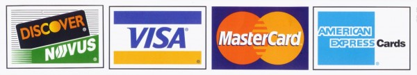 Visa, Master Card, Discover, Amex Accepted